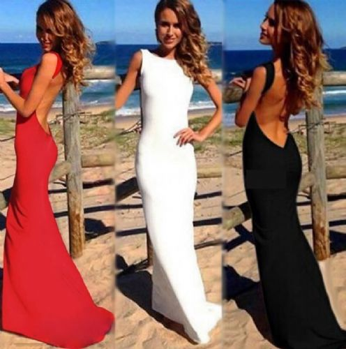 Women Sexy Dress Backless White/Black Long maxi One-piece Bandage Long dress
